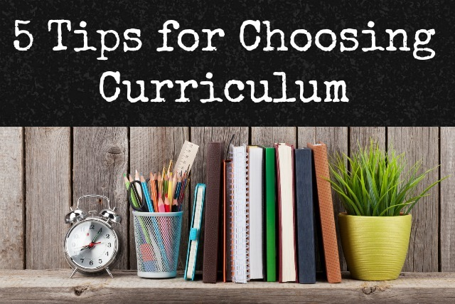 choosing curricuum