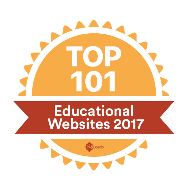 Character Concepts awarded Educents Top 101 Educational Websites for 2017