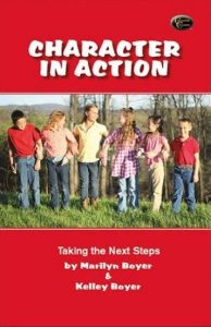 Character In Action Book with kids walking together.